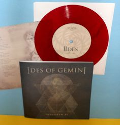 "IDES OF GEMINI hexagram 45 ep 7"" Record RED VINYL , w/ mike from Isis #metalHardRock"