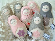 my dolls - my favorites - felt/wool