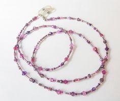 Brillenketten - Brillenkette pink-lila - ein Designerstück von soschoen bei DaWanda