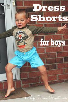 boys dress shorts sewing pattern by Peek A Boo Patterns