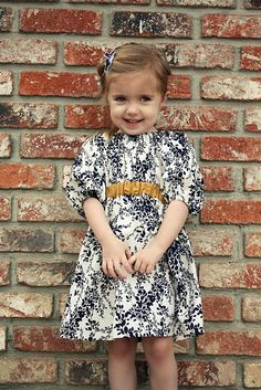 Very cute dress. I think the fabric is what makes it as the style is really very simple.