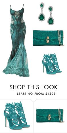 """Turquoise & teal"" by ashleyhuang68 ❤ liked on Polyvore featuring Zuhair Murad and Dolce&Gabbana"