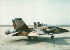 Los F/A-18A adquiridos de segunda mano a Estados Unidos poco después de su llegada a España, algunos de ellos todavía con los colores originales