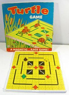 vintage board game - Turtles - magnetic race game - 16.00
