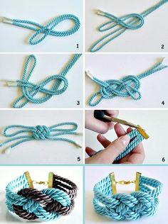 Bead crochet pattern ombre seed bead bracelet tutorial pdf beading master Class jewelry make necklace Crochet Rope tutorial geometric Jewelry Knots, Macrame Jewelry, Fabric Jewelry, Macrame Bracelets, Macrame Headband, Macrame Knots, Loom Bracelets, Silver Bracelets, Friendship Bracelets