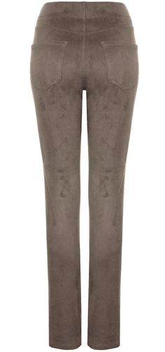 Jegging pull-on in taupe suede
