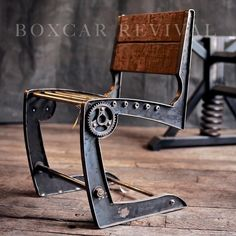 The Zephyr Chair by Boxcar Revival. #IndustrialDesign complete with #Boxcar slat finish.
