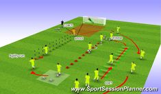 Ball & Agility Warm up, Physical: Speed, Moderate, Pre-season Fitness SAQ Session, Session Players start at the hurdles Soccer Practice Drills, Football Coaching Drills, Soccer Training Drills, Soccer Drills For Kids, Football Workouts, Soccer Skills, Soccer Conditioning Drills, Soccer Warm Ups, Soccer Images
