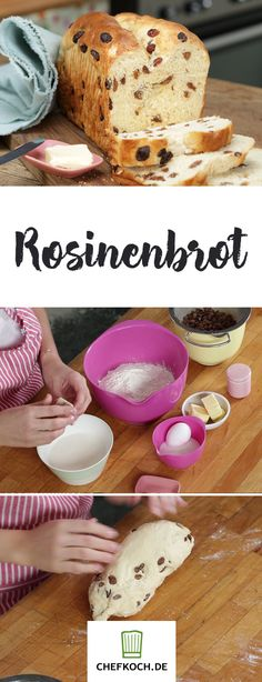 Frisches Rosinenbrot mit Marmelade geht einfach immer! Die Zubereitung seht ihr in unserem Video.