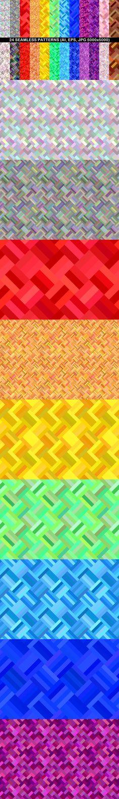 24 Seamless Patterns #seamlesspattern #SeamlessPattern #BackgroundSets #GeometricalPattern #DavidZydd #patterns #GeometricDesign #RepeatingPatterns #seamlesssquarepattern #discount #BackgroundGraphics #CheapVectorBackground #BackgroundCollection #CheapBackground #CheapVectorBackgrounds #pattern #CheapVectorGraphics #PatternSets #PatternCollections Geometric Background, Vector Background, Background Patterns, Vector Pattern, Pattern Design, Pattern And Decoration, Repeating Patterns, Line Design, Vector Graphics