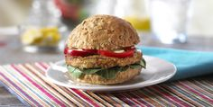 Veggie Burger with Arugula and Spicy Mustard Recipe | Kitchen Daily
