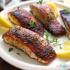 Trout Recipes, Baked Salmon Recipes, Seafood Recipes, Dinner Recipes, Tilapia Recipes, Lunch Recipes, Pasta Recipes, Healthy Recipes, Salmon Recipe Pan