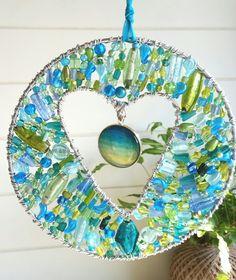 Incorporating beautiful handmade pendants by Littleseed Handmade Jewellery into my suncatchers xx