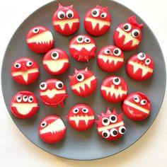 Monster-Käse: eine tolle Idee für den nächsten Kindergeburtstag. Oder als Mitgebest in den Kindergarten.