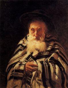The Athenaeum - REPIN, Ilya  Ukrainian-born Russian Realist (1844-1930)_Jew praying - 1875