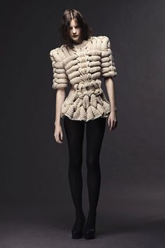 Artistic Knitwear with intricately structured design; sculptural fashion // Sandra Backlund