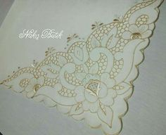This Pin was discovered by Naz Cutwork Saree, Cutwork Embroidery, Hand Embroidery Designs, Machine Embroidery, Brother Innovis, Parchment Craft, Cut Work, Lace Patterns, Henna Art