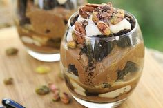 Chocolate Brownie and Peanut Butter Parfait [Vegan, Raw, Gluten-Free] | One Green Planet