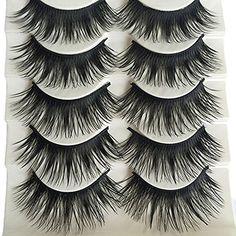 c2d53cf029f Bluelans® 5 Pairs Natural Long Fake Eye Lashes Thick False Eyelashes Black  Makeup Tool