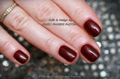 Gelish Elegant Wish nails by FUNKY FINGERS FACTORY