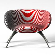 Caroline Uno Arm Chair | jebiga | #red #white