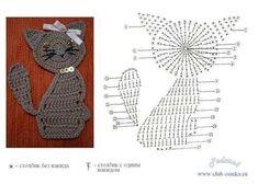 AN-Crochetpedia: Crochet Cat Petits animaux plats et leurs diagrammes – Elylou crochetteOggi parliamo di applique a crochet , ma.doll hair yarn or yarn,Crochet applique.This Pin was discovered by Iri Marque-pages Au Crochet, Gato Crochet, Crochet Motifs, Crochet Diagram, Crochet Chart, Crochet Toys, Crochet Stitches, Free Crochet, Crochet Patterns