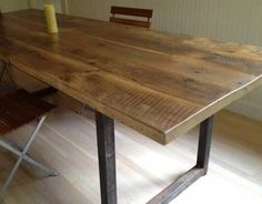 Dining Wood Table top reclaimed wood dining table with leaves reclaimed wood dining tkcaiqk Dining Table With Leaf, Wooden Dining Tables, Dining Table Design, Dining Room Table, A Table, Reclaimed Wood Table Top, Solid Wood Coffee Table, Reclaimed Wood Furniture, Custom Furniture