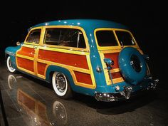 1949 Mercury Woody Wagon.  Not a fan, but this one is just so pretty.