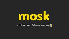 "Check out this @Behance project: ""Mosk Typeface (Free)"" https://www.behance.net/gallery/33966928/Mosk-Typeface-(Free)"