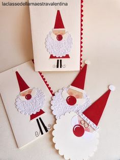 La classe della maestra Valentina: 6- LA BARBA DI BABBO NATALE - Visit an Italian blog (translator provided) to see the most amazingly simple and stunning designs made from paper. The artist is a genius, and the projects simple.