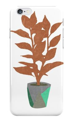 """Houseplant With a Cool Pot"" iPhone Cases & Skins by opul 
