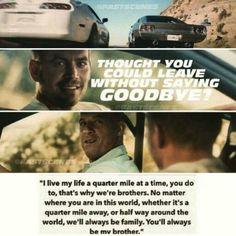 """Assisti o Furious 7, muito bom o filme. O último que terá Brian O'Conner. Final épico, muito bem feita as homenagens merecidas ao Paul Walker. . """"Pensou que poderia ir embora sem dizer adeus?"""" Graças ao filme, equipe e fãs puderam se despedir."""