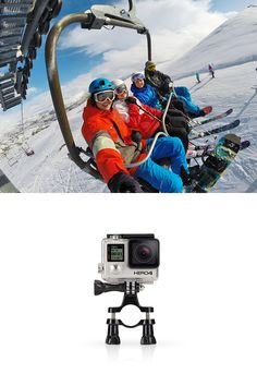 GoPro Handlebar / Seatpost / Pole Mount - Attach your GoPro to handlebars, seatposts, ski poles and more. - See more at: http://shop.gopro.com/mounts/handlebar-seatpost-pole-mount/GRH30.html#/start=1