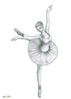 Desenho de bailarina ♡♥