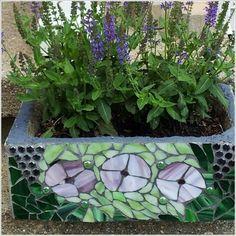 mosaic - flower pot