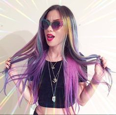 How gorgeous does our sponsored musician Alexandra & The Starlight Band look with her newly-colored #ManicPanic locks!? She just got her hair done by Adrienne at Salon Nesou in Santa Monica, Cali! This is a model/stylist team made in hair heaven!