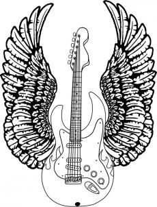 how to draw a guitar with wings step 8