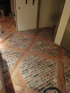 kinda like this... maybe with slate instead of bricks 1900 Farmhouse: Kitchen Floor