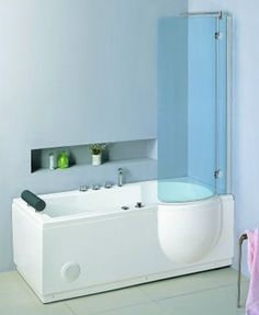 hydra pro  complete shower bath (right hand). 1680mm. 8 jet whirlpool. - taps4less.com