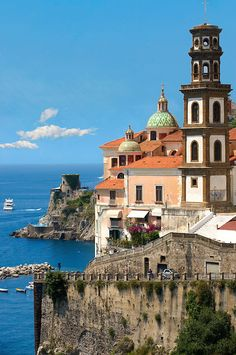Resort town of Atrani; Amalfi Coast; Italy