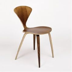 Cherner Side Chair - The number of plies in the Cherner Chair varies from 15 at the throat of the seat to 5 at the seat perimeter. This feature, plus the molding of compound curves, permits . Cafe Chairs, Room Chairs, Table And Chairs, Luxury Furniture, Modern Furniture, Smart Furniture, Vintage Furniture, Furniture Design, Bent Wood