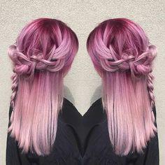#pink #dipdye #hair