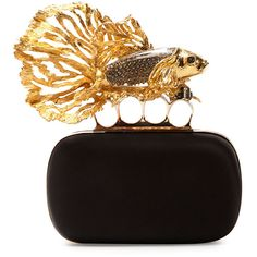 Alexander McQueen Fish Knuckle Box Clutch Bag (23 075 SEK) ❤ liked on Polyvore