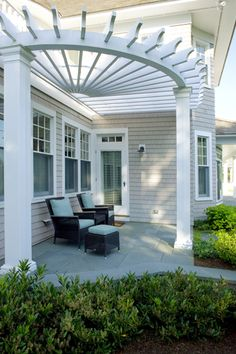 great pergola at front door