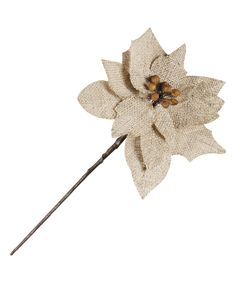Loving this C & F Natural Burlap Poinsettia Pick on #zulily! #zulilyfinds