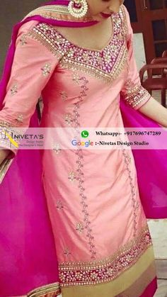 Hi we do customize party wear Punjabi salwar suit, Can be made in any color combination, Embroidery work or Fabric, bridal suit, Punjabi suit, Party wear Salwar suit, Customize Patiala salwar suit , reach us at Whatsapp:- +917696747289 E-mail:- nivetasfashion@gmail.com