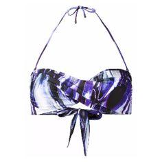 Phoenix Twisted Bandeau Bikini Top (£80) ❤ liked on Polyvore featuring swimwear, bikinis, bikini tops, print swimwear, strappy bandeau top, twist bandeau bikini top, twist bandeau top and twist bikini top