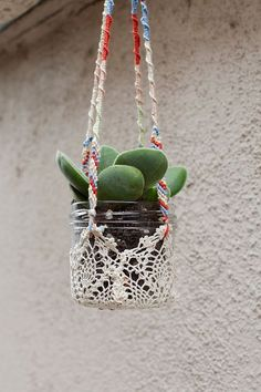 DIY Plant Hanger. Pic only. No instructions.