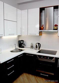 Маленькая и очень маленькая кухня. Примеры интерьеров