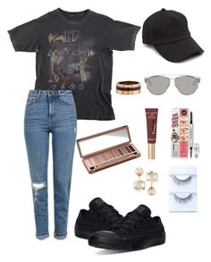 """Unbenannt #391"" by lailabalic ❤ liked on Polyvore featuring Topshop, rag & bone, Christian Dior, Cartier, Converse, Urban Decay, Too Faced Cosmetics and Vita Fede"